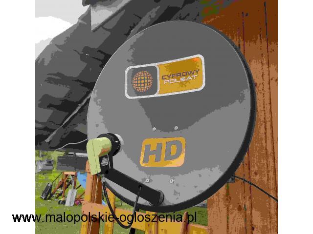 24h Montaż Serwis Regulacja Ustawienia Anten Satelitarnych NC+ POLSAT Skała
